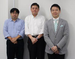 左から:江原 健介 様、薗部 紀樹 様、三石 祐輔(インターファクトリー)